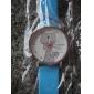 여성과 소녀의 아날로그 석영 손목 시계 (흰색)