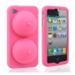 Sexy Soft Silicone iBoobies Case for iPhone 4/4S (Pink)