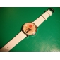 Girl's Cartoon Cat Pattern White PU Band Quartz Analog Wrist Watch Cool Watches Unique Watches