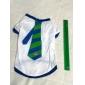 Хлопковая рубашка в полоску, для собак (XS-M, Белый)