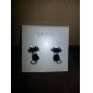 lureme®mysterious petits clous d'oreilles de chat noir