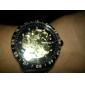 Men's PU Analog Mechanical Wrist Watch (Black)