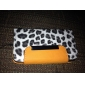 Leopard Wallet PU Leather Case with Stand for iPhone 4 and 4S (Assorted Colors)