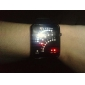 Men's Watch Digital 29 LED Red & Blue Light Black Silicone Strap Cool Watch Unique Watch
