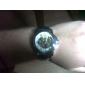 Hombre Reloj de Pulsera Cuerda Automática Huecograbado PU Banda Negro Marca-
