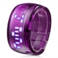 Bracelet Design Future Blue LED Wrist Watch - Purple Cool Watches Unique Watches