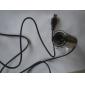 8 megapixel mini-clip-on USB 2.0 webcam (prata)
