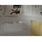 protector de pantalla transparente con paño de limpieza para el iphone 5 / 5s (3 pack, paño de limpieza 1)