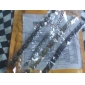 pulseira de titânio homens de aço dourada e preta padrão de distribuição