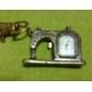 Unisex Sewing Machine Design Alloy Analog Quartz Keychain Watch (Bronze)
