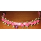 Adjustable Nylon Rose Style Collar with Little Bell for Dogs, Cats (Assorted Color)