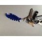 Fish Bone Shaped Bottle Opener Keychain (Random Color)