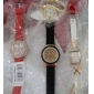 quartz analogique strass or cas PU bande de montre-bracelet des femmes