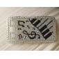 Luminoso Musical Rhinestone Hard Case Modelo Nota para Samsung I9300 Galaxy S3