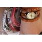 Femmes Style Long Bracelet PU Bracelet Montre à quartz analogique avec chiffres romains (couleurs assorties)