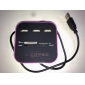 All in One Multi Card Reader with 3 Ports USB 2.0 Hub Combo for SD/MMC/M2/MS (Assorted Color)