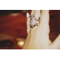 bling bling strass style de grenouille anneau constellé