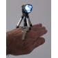 LED Flashlight Keychain with Tripod Stand (Black)