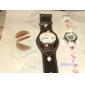 Hommes Montre Habillée Quartz Japonais Quartz Polyuréthane Bande Noir Blanc Rouge Marron