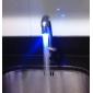 Torneira Estilosa com Iluminação LED para Pia dda Cozinha Movida à Água(Plástico com Acabamento Cromado)