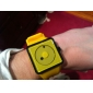 Unisex Creative Two-Dot Dial Silicone Band Quartz Analog Wrist Watch (Yellow) Cool Watch Unique Watch