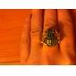 Golden Toad Case Metal Ring Watch
