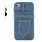 calças de vaqueiro projeta caso difícil para iphone 4 e 4S (cores sortidas)