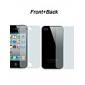 Etu- ja takapuolen suojakalvo puhdistuskankaalla iPhone 4/4S:lle