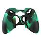 capa de silicone protetora de duas cores para Xbox 360 (preto e verde)