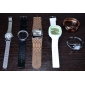 Unisex Jelly Green Dial White Silicone Band Quartz Analog Wrist Watch Cool Watch Unique Watch