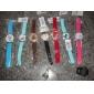 des femmes et des filles de montres analogiques à quartz (blanc)