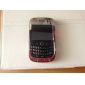 Stripe Style Back Case and Bumper Frame for Blackberry 8520/9300 (Red)