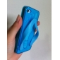 флип-пороть тапочки TPU крышка случае для iphone 4 - голубой
