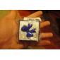작은 크기의 나비 종이 반지 상자 (파란색) lureme®5x5cm