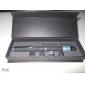 5-режимная лазерная указка с голубым лучом, с батарейкой, 5mw, 405nm, черный корпус