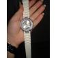 Women's Diamand Case Silicone Band Quartz Analog Wrist Watch (Assorted Colors)