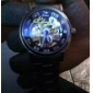 Herren-Legierung analoge mechanische Armbanduhr (Silber)
