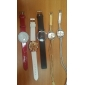 Women's Long Braided Rope Style PU Leather Band Analog Quartz Bracelet Watch (Assorted Colors)