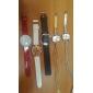 Analoge Damen Uhr, Quartz, mit Perlenbesetztem Schmuck Armband im Schnur Design (Verschiedene Farben)