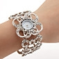 Women's Silver Bracelet Watch with White Czechic Diamond Decoration