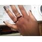 Unisex Silvery Titanium Steel Ring