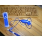 2-i-1 MotionPlus Remote Controller og Nunchuk + cover til Wii (blå)