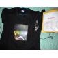 Светодиодно-музыкальная футболка с девушкой в наушниках (3 батарейки AAA)