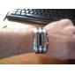 führte Bule-Licht stellige Edelstahl Armbanduhr mit Wochentag-Anzeige