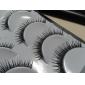 5 paar zwarte handgemaakte verlenging fiberfalse wimpers