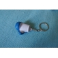 Glove Style Keychain with Soft Plastic Material-Blue