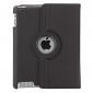 360 Degree Rotating Flip Case Cover Swivel Stand For Apple iPad 2/3/4(Balck)