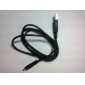 sincronización de datos micro USB y cable de carga para el teléfono Samsung Galaxy y otros teléfonos (negro, 76.5cm)