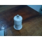 de cigarrillos del automóvil propulsado 5v-2a adaptador usb / cargador para teléfonos celular y protectores (blanco)