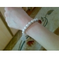 Lureme®Women's Fine Silver and Pearl Bracelet